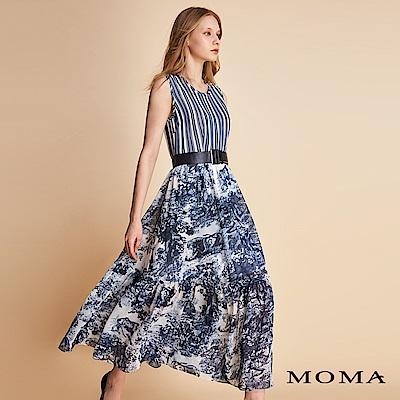 MOMA條紋原野花卉洋裝