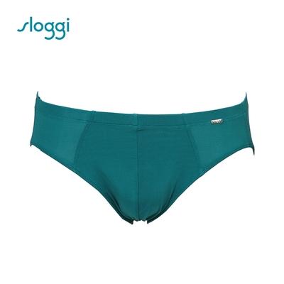 sloggi men Cool Stripy系列極尚涼感三角褲 海綠色 RG918503WR