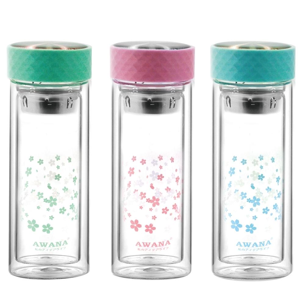 AWANA粉彩雙層玻璃瓶300ml