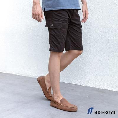 NoMorre 輕薄側腰伸縮工裝短褲-黑色