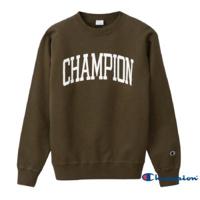 Champion Campus印花Logo大學Tee 軍綠色