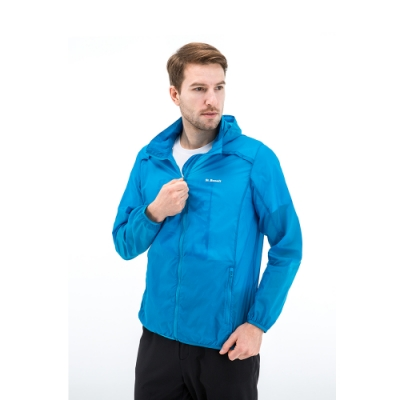 【St. Bonalt 聖伯納】男款單色超輕透防曬外套 (8027-豔藍) 抗UV 防曬 防風 防潑水 輕薄 透氣