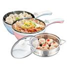 Dowai多偉1.5L蒸健康料理鍋/美食鍋/電炒鍋(含蒸籠)EC-150