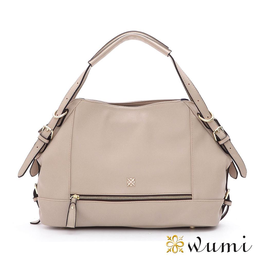 WuMi 無米 艾莉卡率性拉鍊包 裸膚杏