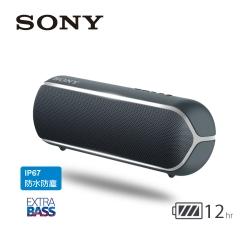 SONY 可攜式藍牙喇叭 SRS-XB22 黑色
