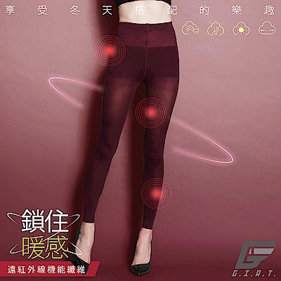 GIAT 零肌著遠紅外線隱形美體發熱褲(暗酒紅)