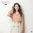 東京著衣-YOCO 美好年代小復古碎花珍珠釦襯衫(共二色)