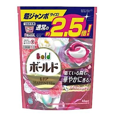 日本P&G 3D立體2.5倍洗衣果凍膠囊補充包-療癒花香(44顆入)