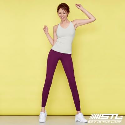 STL Yoga Leggings Free Line 9 韓國瑜珈『無尷尬線』 高腰壓腹 訓練拉提緊身褲 自由曲線 深紫 重訓/路跑/登山/瑜珈/瑜珈