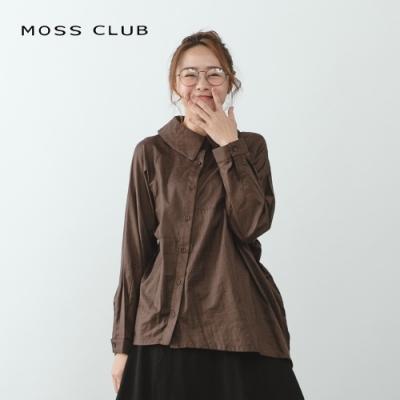 【MOSS CLUB】斜釦不對稱設計-襯衫(二色)
