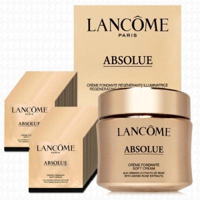 LANCOME蘭蔻 絕對完美黃金玫瑰修護乳霜60ml+1mlx60