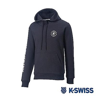 K-SWISS High Front Hoodie 刷毛連帽上衣-女-黑