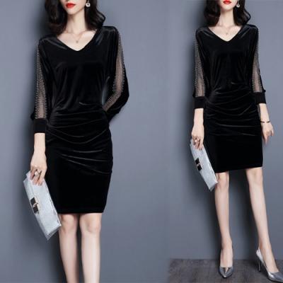 【KEITH-WILL】韓國氣質美臀款修身洋裝-5色