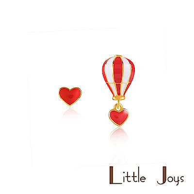 Little Joys 原創設計品牌 Heart Balloon 不對稱耳釘 紅白短款