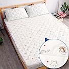 奶油獅-星空飛行-美國抗菌防污鋪棉保潔墊床包兩件組-單人加大3.5尺-米