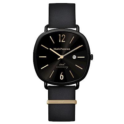 Hush Puppies六十週年紀念腕錶 - 黑金 / 43x43mm