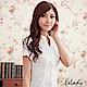 EELADY-開襟立領U壓摺條紋短袖襯衫(白色) product thumbnail 1