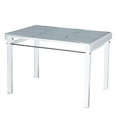文創集 奧多時尚3.7尺玻璃餐桌(二色可選+不含餐椅)-110x70x73cm免組