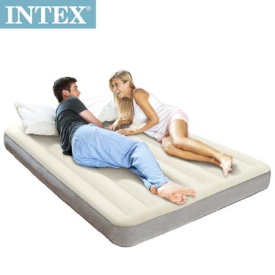 INTEX 新型氣柱-雙人加大植絨充氣床墊-寬152cm(64709)