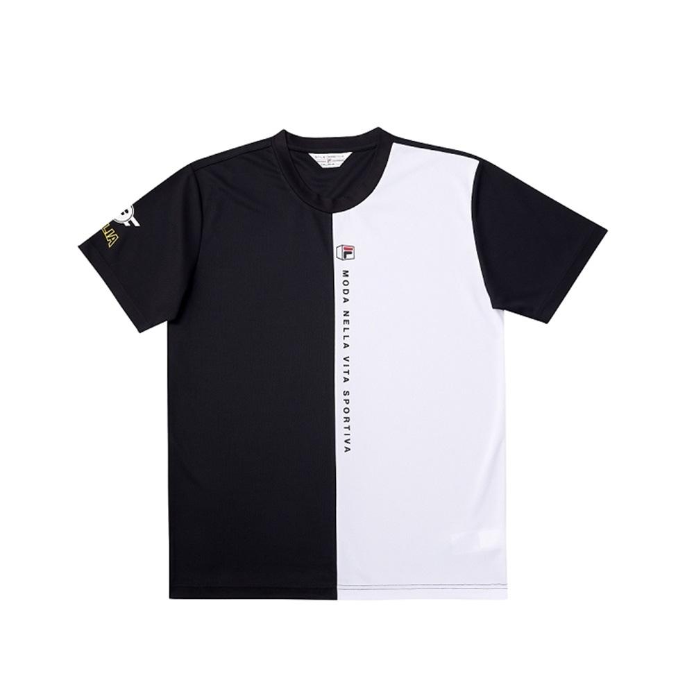 FILA 男短袖圓領T恤-黑色 1TEV-1702-BK