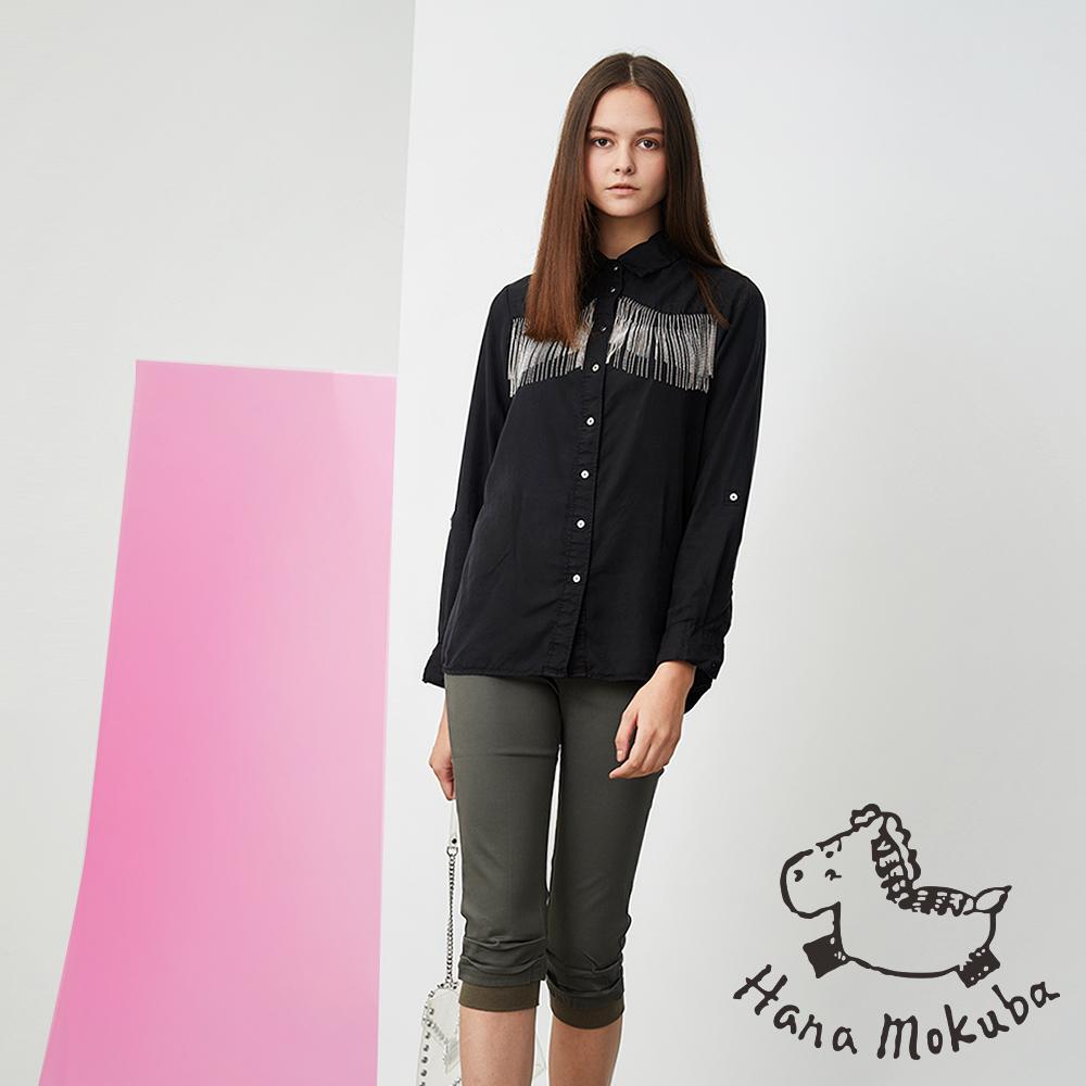 Hana+花木馬 高磅棉顯瘦鉛筆造型七分褲(兩色)-軍綠