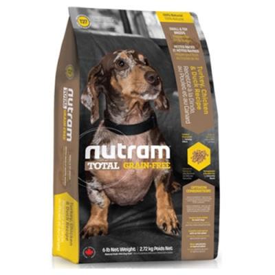 【NUTRAM】紐頓T27無榖挑嘴全齡迷你犬(火雞+雞肉)3lb/1.36kg【2包組】