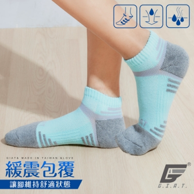 GIAT台灣製類繃萊卡運動機能襪(男女適穿/灰綠)