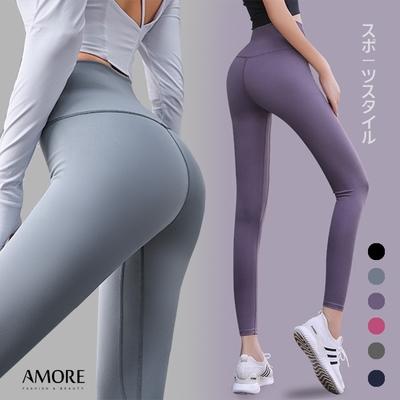 【Amore】高腰修身提臀運動緊身褲(6色任選/全尺碼)