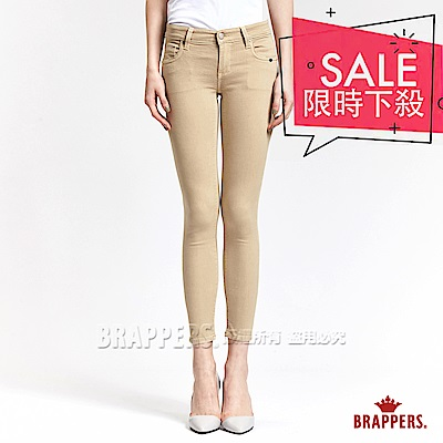 BRAPPERS 女款 LC-Cargo系列-女用中低腰彈性九分褲-卡其