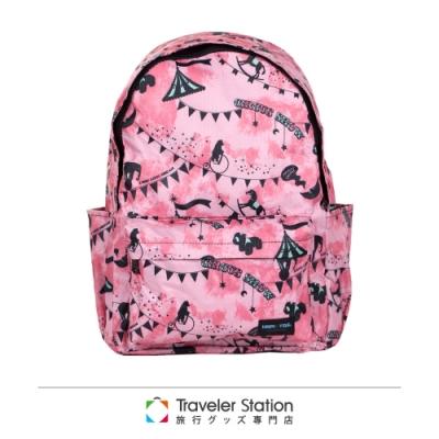 【HAPI+TAS】新型折疊後背包─粉紅馬戲團