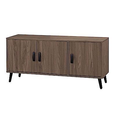 文創集 莉可現代4尺木紋三門坐鞋櫃/玄關櫃-120x38x45cm免組