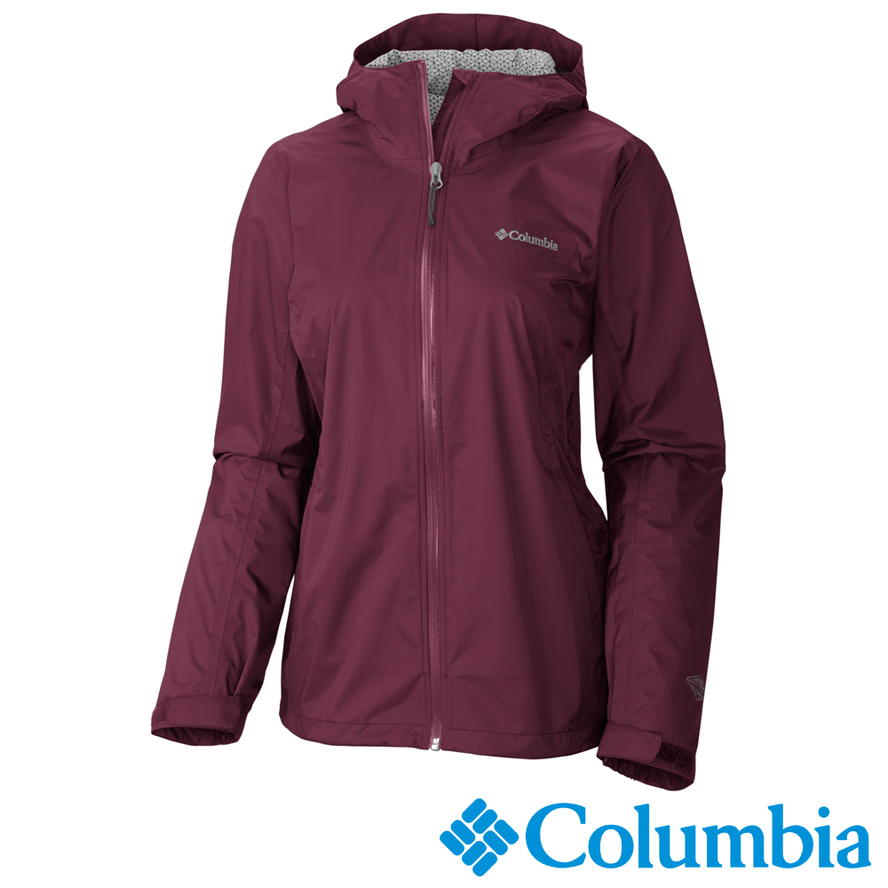 Columbia哥倫比亞 女-Omni-Tech防水快排外套-暗紅URL24370