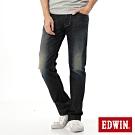 EDWIN EDGE LINE 雙口袋 中直筒牛仔褲-男-中古藍