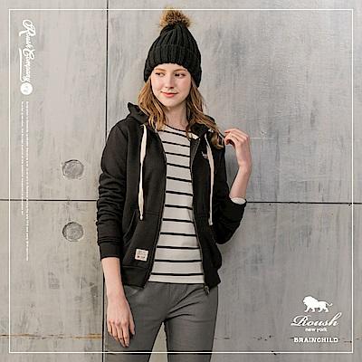 ROUSH 女生厚棉刷毛連帽外套 (4色)