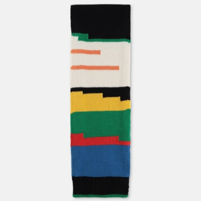 Stella McCartney 混色條紋針織圍巾