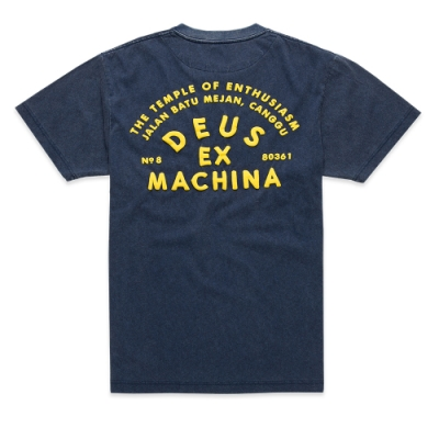 Deus Ex Machina  Roller Canggu Address T恤 (藍)