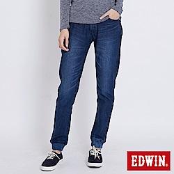 EDWIN 迦績JERSEYS運動 束口牛仔褲-女-石洗綠