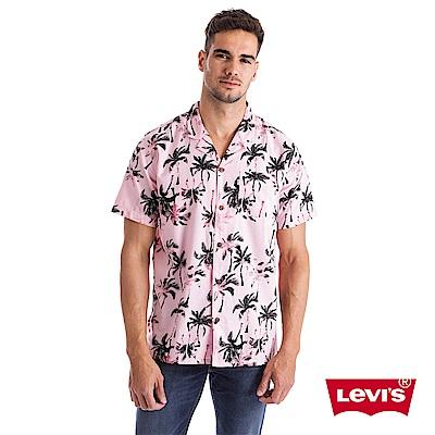 Levis 男款 短袖襯衫 海灘風印花 單口袋 Lyocell天然環保纖維