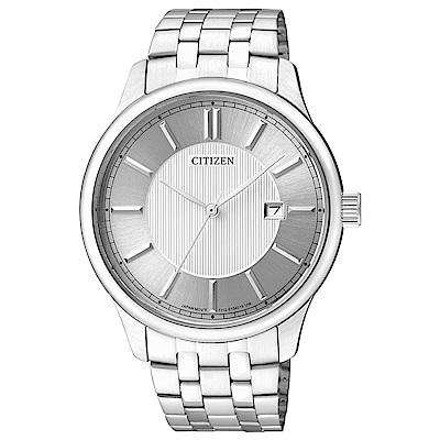 CITIZEN  魅力陽剛石英腕錶(BI1050-56A)-銀/41mm