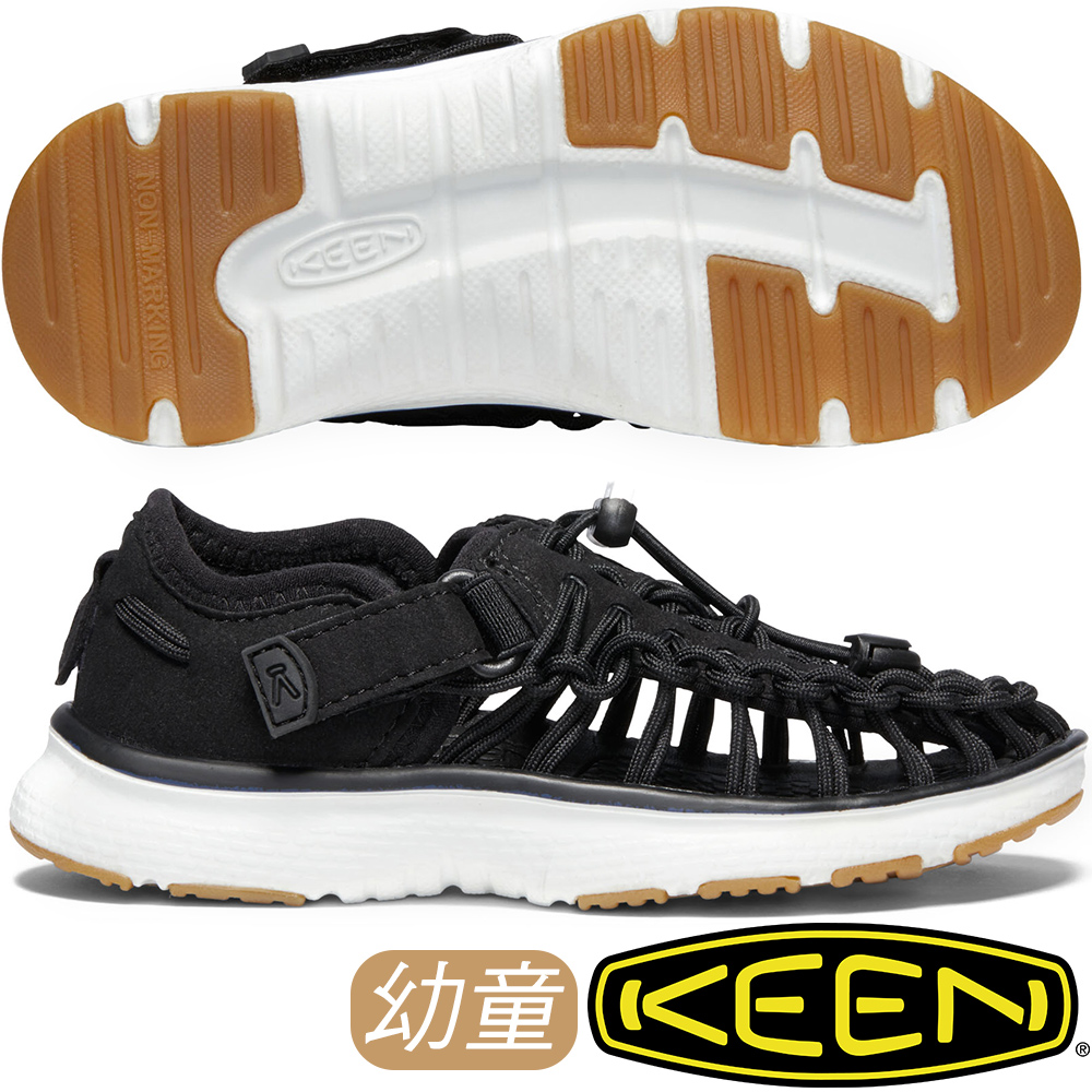 KEEN 1020585黑 Uneek O2 兒童戶外編織涼鞋/兒童運動鞋