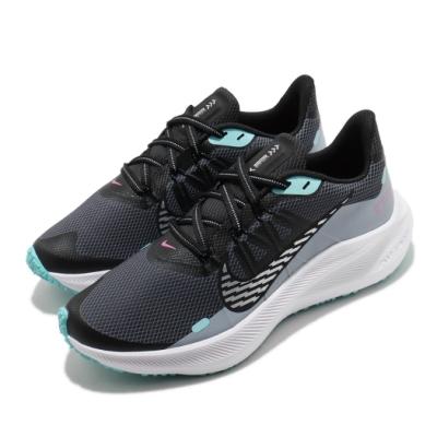 Nike 慢跑鞋 Winflo 7 Shield 運動 女鞋 輕量 舒適 避震 路跑 健身 防潑水 黑 綠 CU3868403