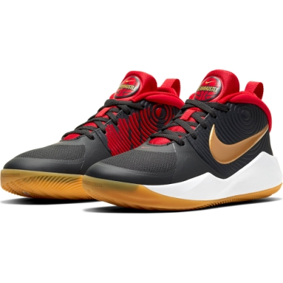 NIKE  籃球鞋 緩震 包覆運動鞋 大童 女鞋 黑 AQ4224011 TEAM HUSTLE D 9 (GS)