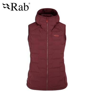 【RAB】Cubit Stretch Down Vest 保暖羽絨連帽背心 女款 深石楠 #QDB32