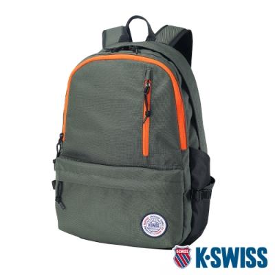 K-SWISS Sunshine Backpack休閒後背包-軍綠/橘