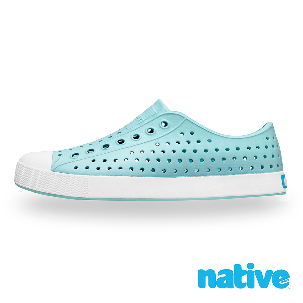 native JEFFERSON 男/女鞋-碧藍x貝殼白