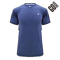 【GOHIKING】男剪接排汗T恤