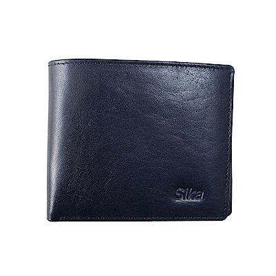 SIKA義大利素面牛皮短皮夾A8219-06清玉藍