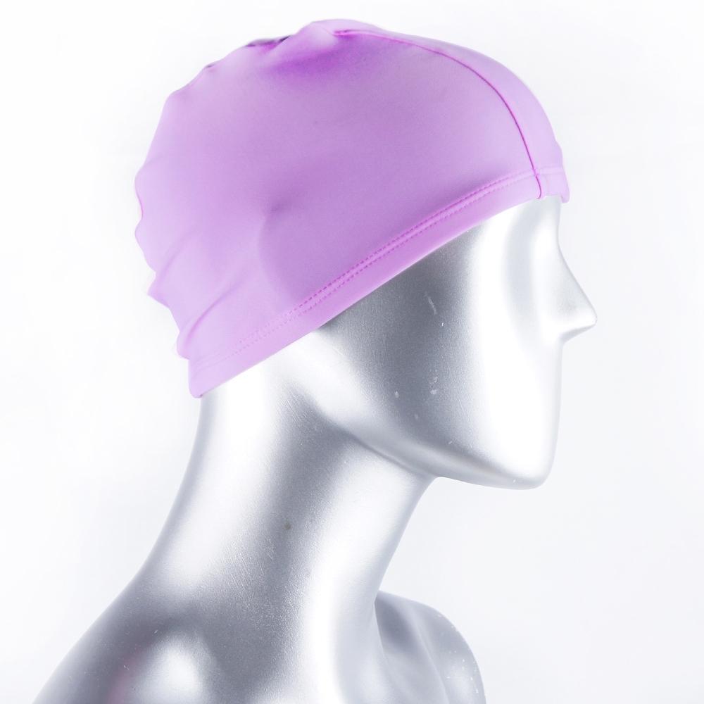 泳帽 休閒戲水高彈力布面泳帽(紫F) AngelHoney天使霓裳