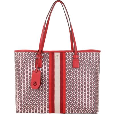 TORY BURCH GEMINI LINK 塗層帆布托特包(紅色)