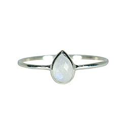 Pura Vida 美國手工 月光石淚滴造型純銀戒指